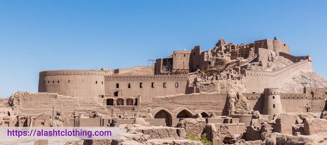 جاذبه های گردشگری کرمان ارگ بم قبل از تخریب